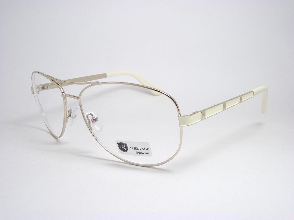 armação de óculos feminino aviador dourado claro 141101 mj. Carregando zoom. 79f7c1736d