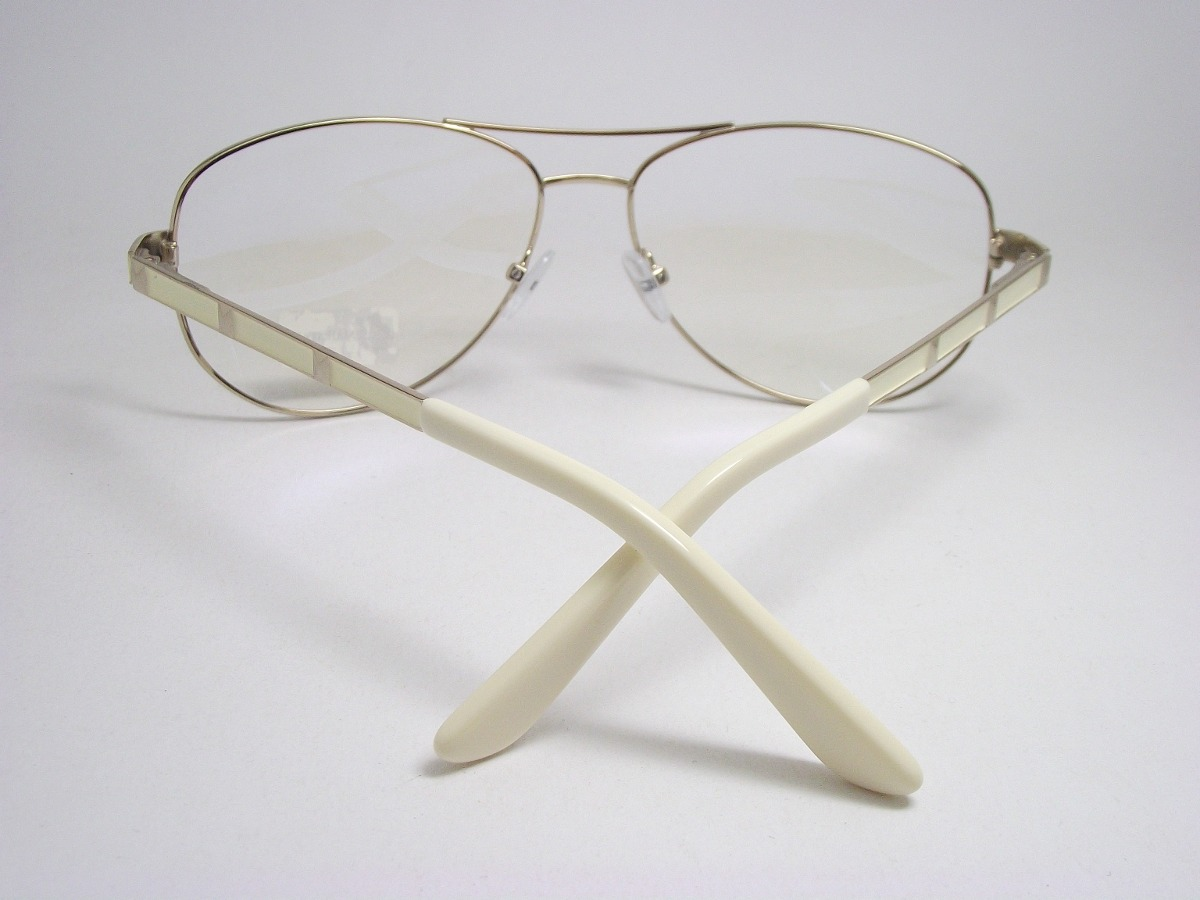armação de óculos feminino aviador dourado claro 141101 mj. Carregando zoom. 909d069401