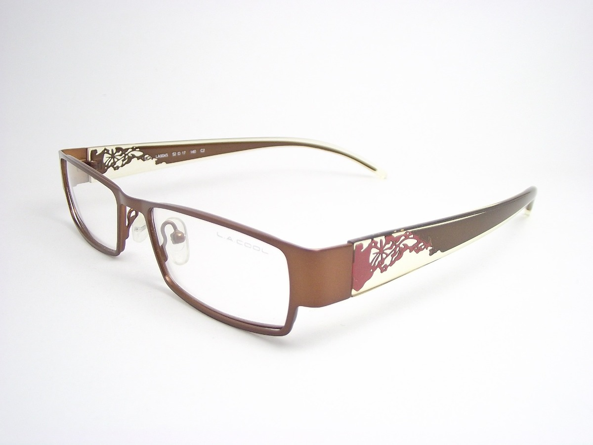 ac0e42b257b64 armação de óculos feminino marrom e transparente la9045c2 mj. Carregando  zoom.