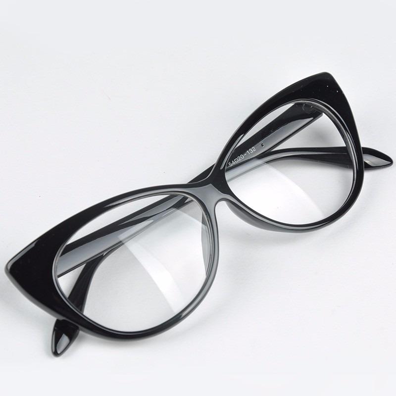 Armação De Óculos Gatinha Estilo Retro - R  33,95 em Mercado Livre 504dd87222