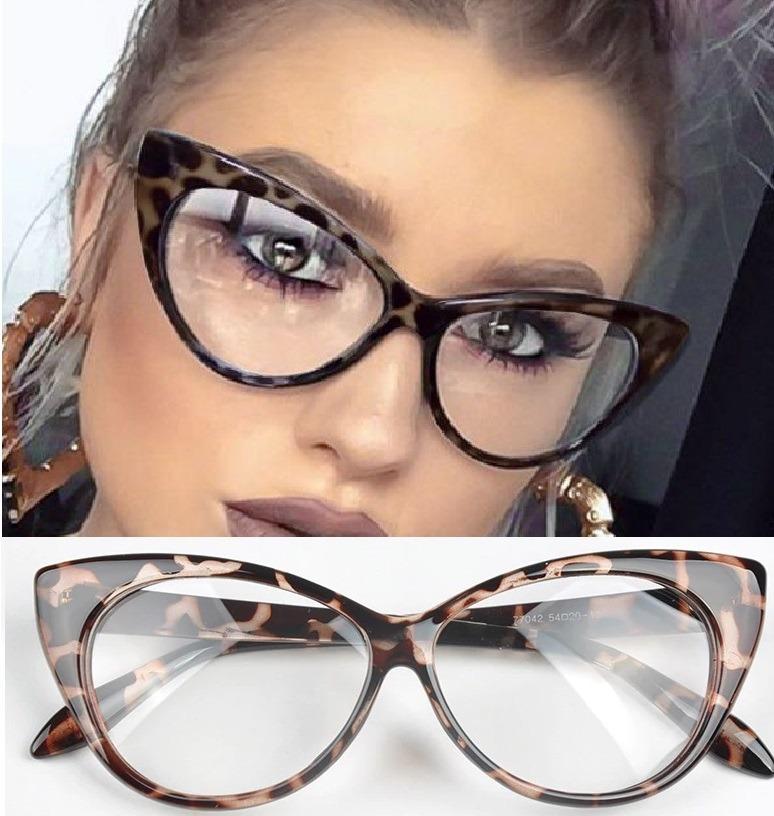e3bb6f858c90a armação de óculos gatinho blogueira italy leopard oncinha. Carregando zoom.