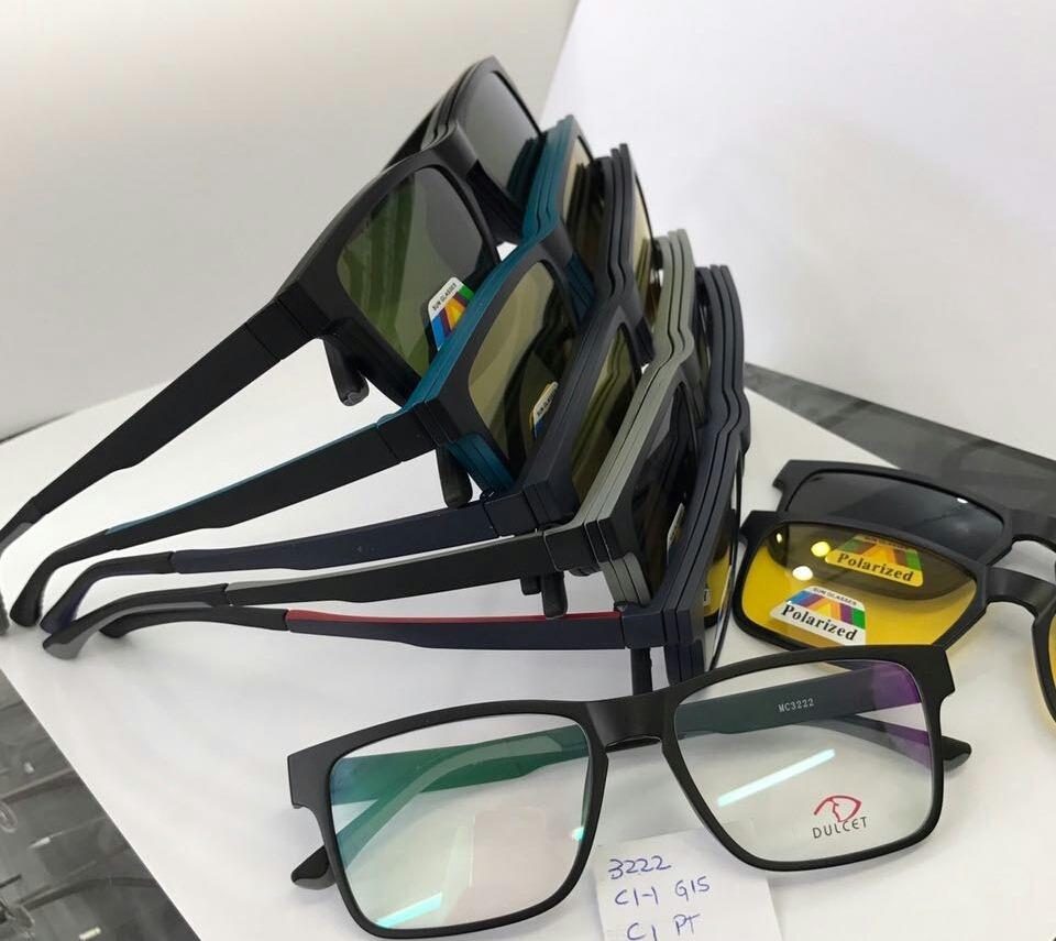 d0b0925500dd4 armação de óculos grau clip on sol noite polarizado promoção. Carregando  zoom.