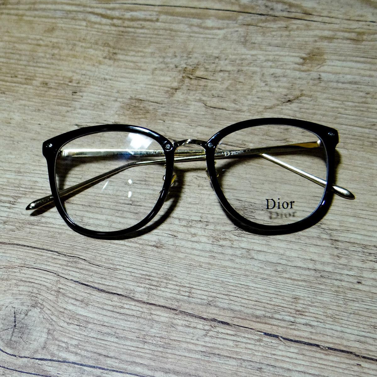 c275a7de3 Armação De Óculos Grau Dior Preto - R$ 119,00 em Mercado Livre