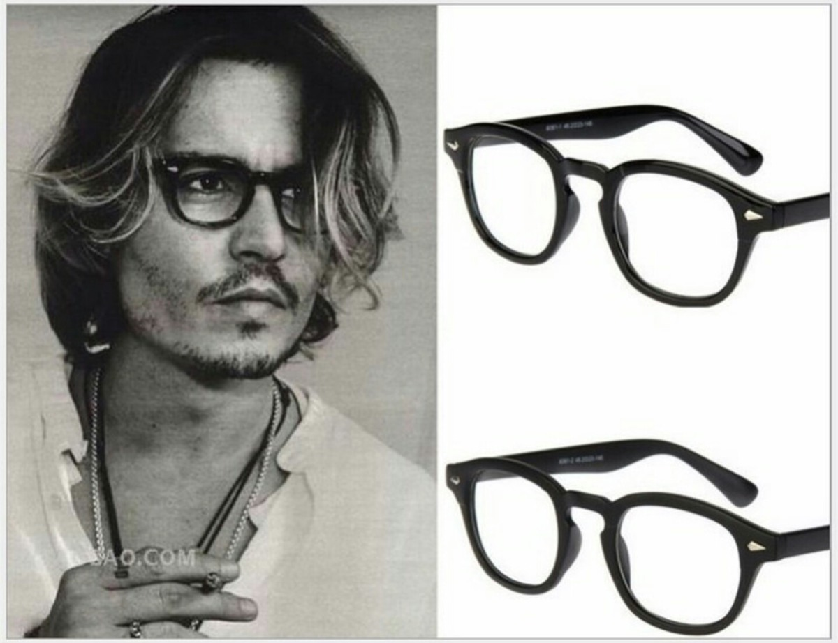 fb9717c4e30db Armação De Oculos Grau Estilo Johnny Depp Tortoise Acetato - R  59,49 em  Mercado Livre