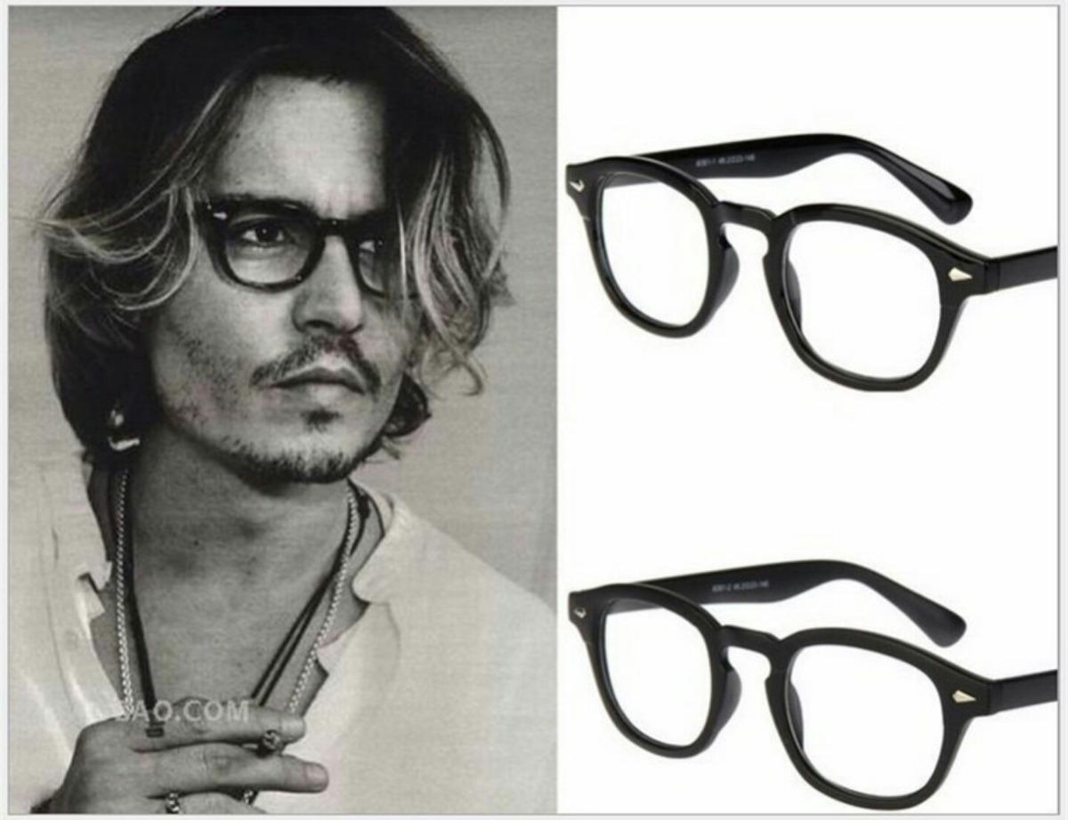 5c2d8f43c Armação De Óculos Grau Estilo Johnny Depp Tortoise Acetato - R$ 119,49 em  Mercado Livre