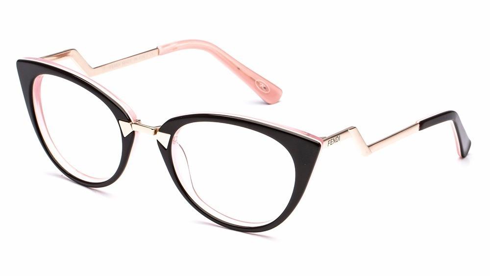 9d435cf611122 armação de oculos grau feminino ff0118 acetato importado ros. Carregando  zoom.