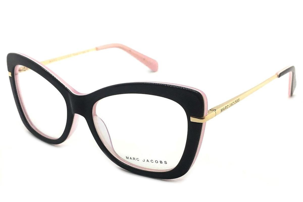 Armação de Óculos Quadrada Marc Jacobs MJ340 Azul Preto