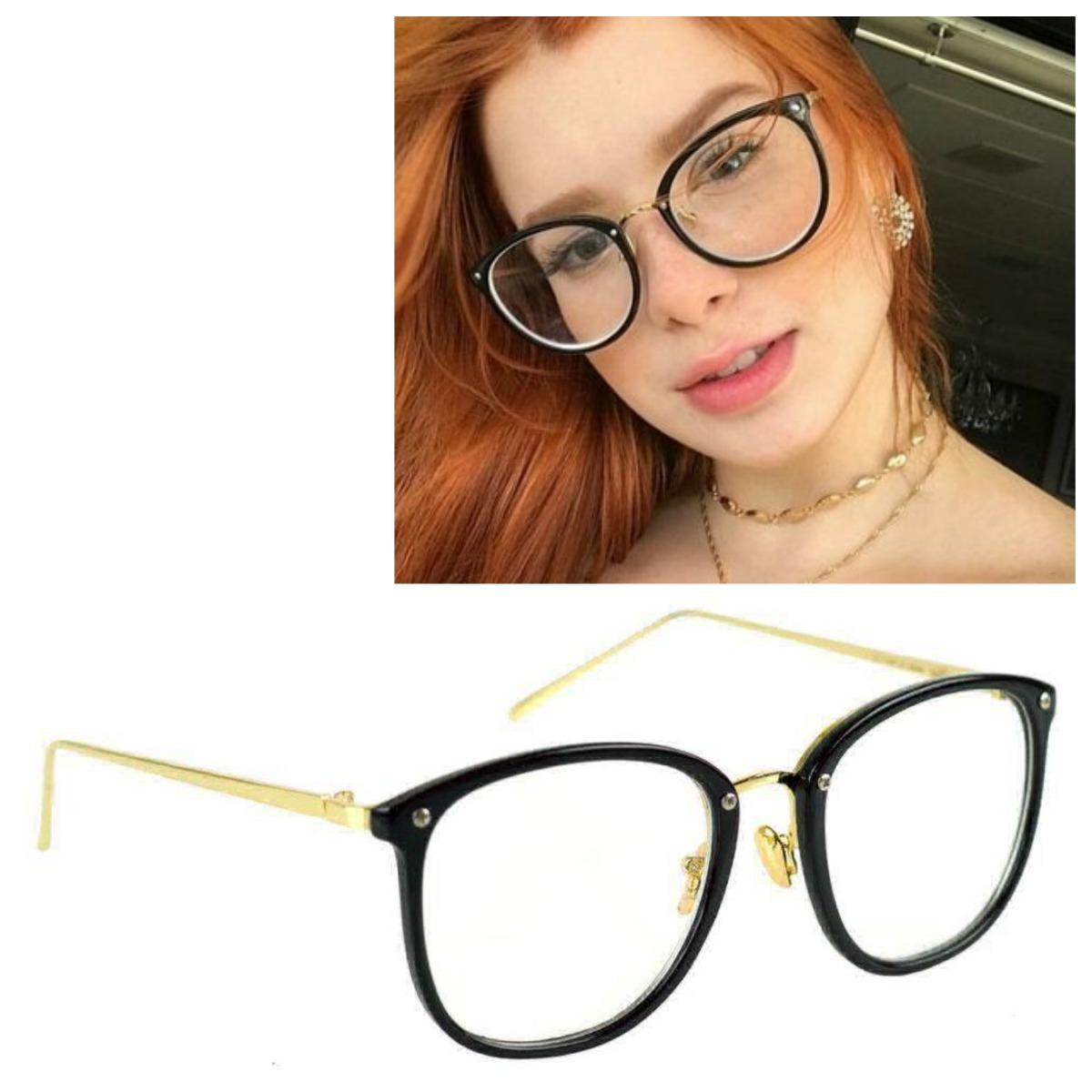 Armação De Oculos Grau Geek Preto Feminino - R  39,90 em Mercado Livre 2dcc06194e