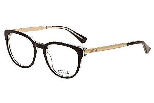 9f0a9a4815643 Armação De Óculos Guess Gu2461 Blk 50-19 135 - R  339