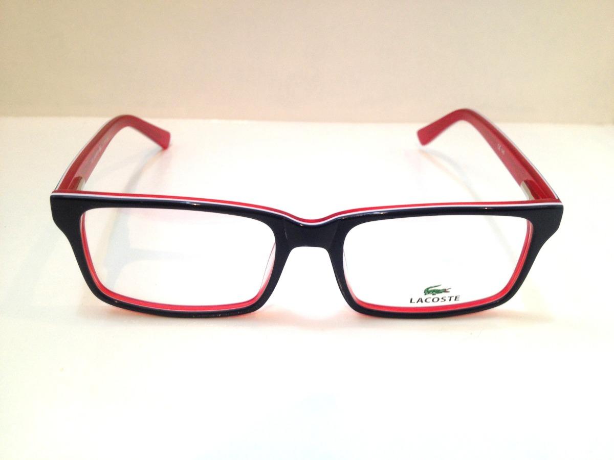 644b7b8112b5e armação de óculos lacoste acetato azul escuro c  vermelho. Carregando zoom.