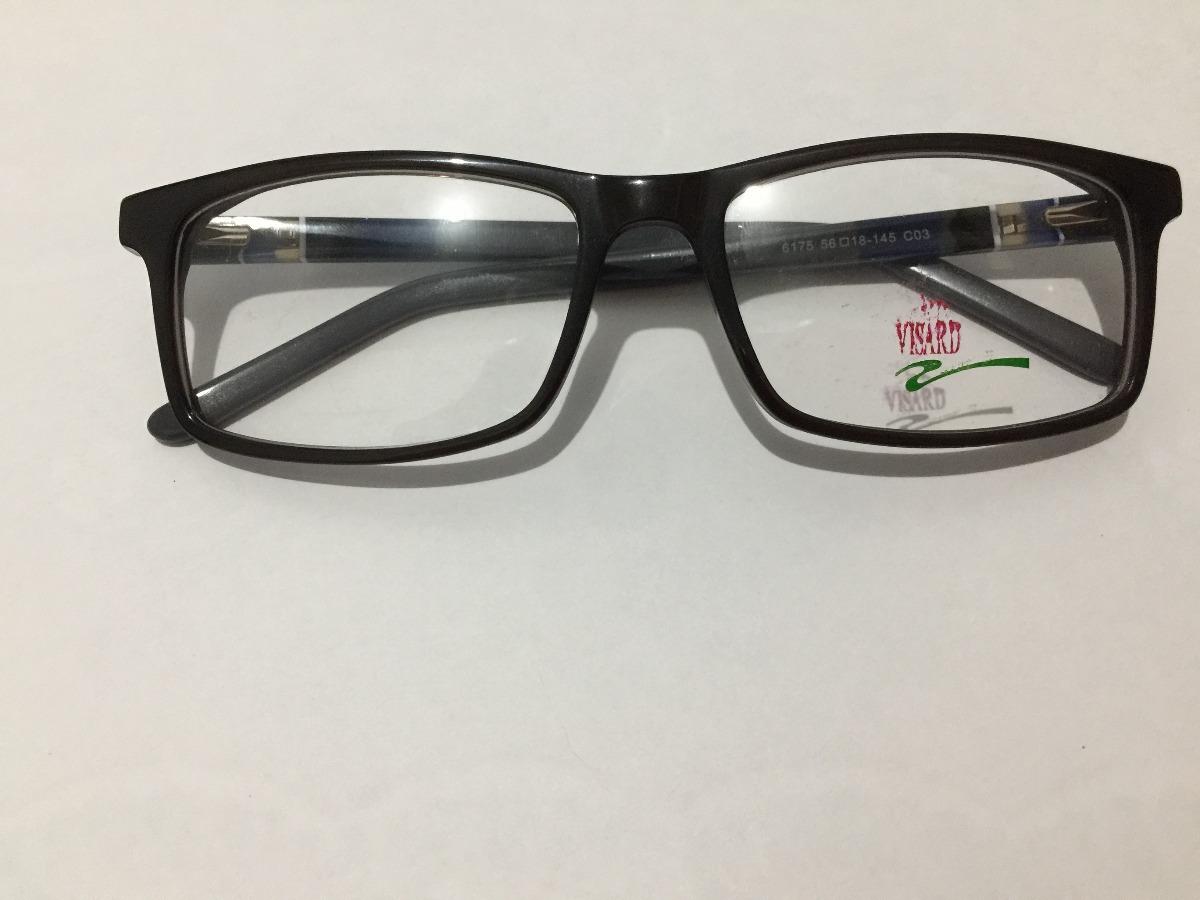 e05251e78 armação de óculos masculino visard com lente sem grau azul. Carregando zoom.