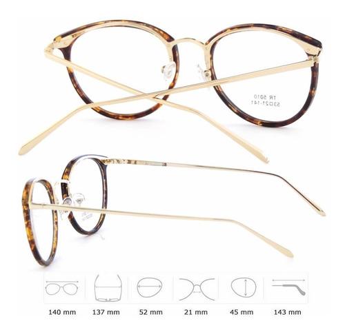 armação de óculos olho de gato feminina em tr 90 e metal