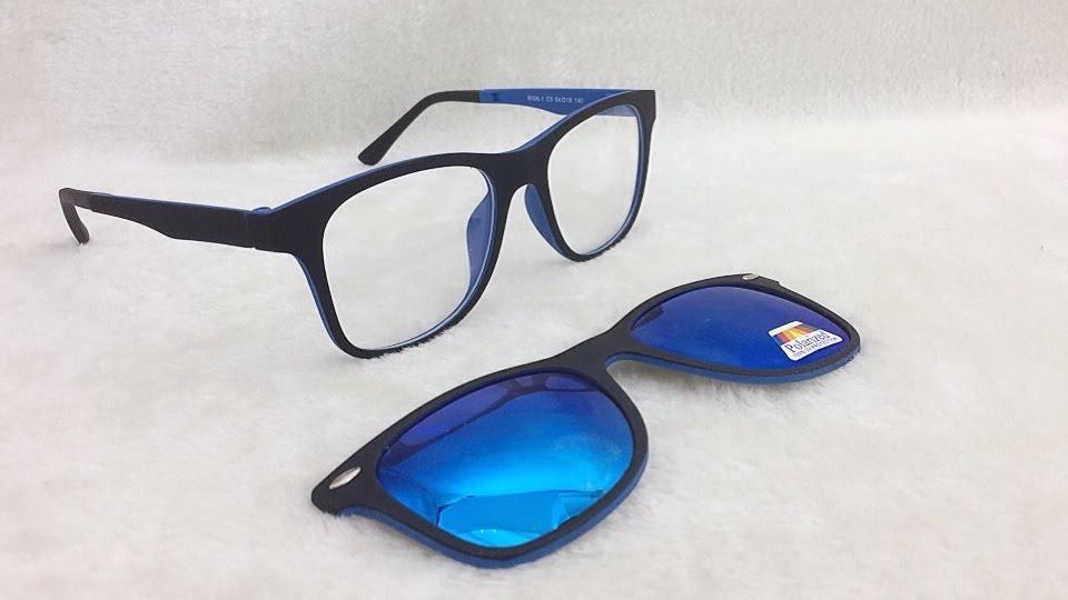 armação de óculos p  grau clip on 2 em 1 polarizado s002. Carregando zoom. aa78ede795