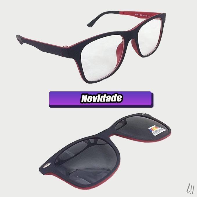 Armação De Óculos P  Grau Clip On 2 Em 1 Polarizado S002 - R  75,00 ... 81b3bb4d4c