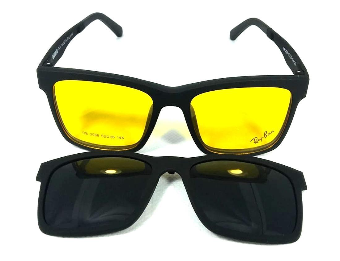 armação de óculos p  grau clip on 3 em 1 polarizado uva uvb. Carregando  zoom. db82486850