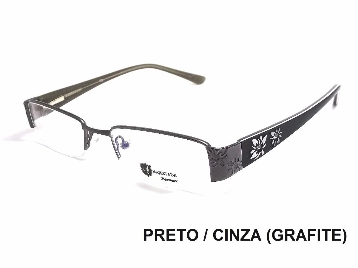 Armação De Óculos P Lente D Grau Feminino Em Acetato E Metal - R  69 ... acd87dd36f