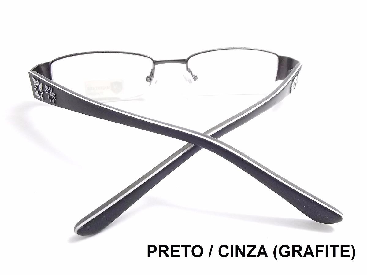 e52949fcaeb6c armação de óculos p lente d grau feminino em acetato e metal. Carregando  zoom.