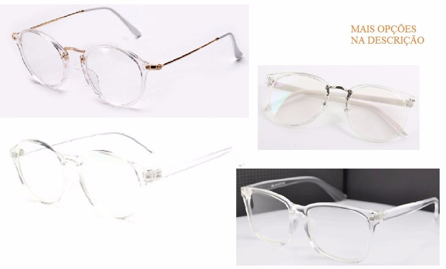 armação de óculos para grau acetato novo transparente e rosa. Carregando  zoom. 180d91367c