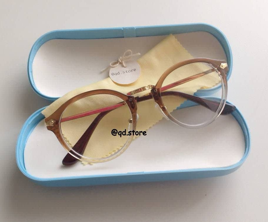 053db522738e5 armação de óculos para grau degrade nerd vintage retro geek. Carregando  zoom.