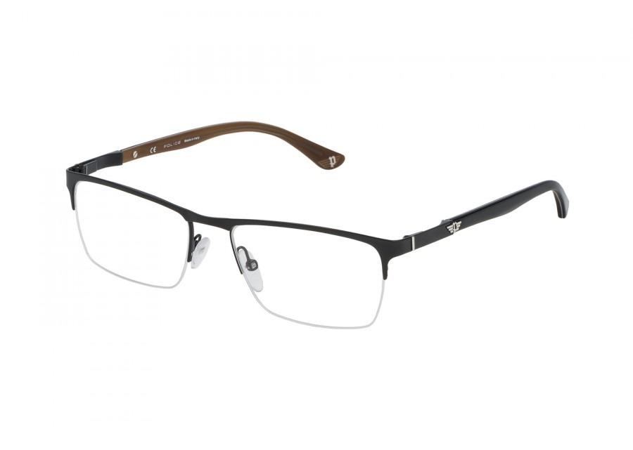 c2c75475f6f80 Armação De Óculos Police Vpl 465 Block 3 57 Col 0530 145 - R  697
