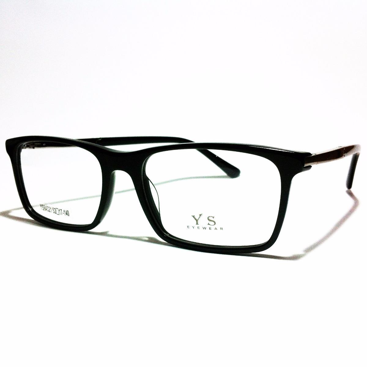 afcb672a armação de óculos preta masculino lentes de grau ys64321. Carregando zoom.