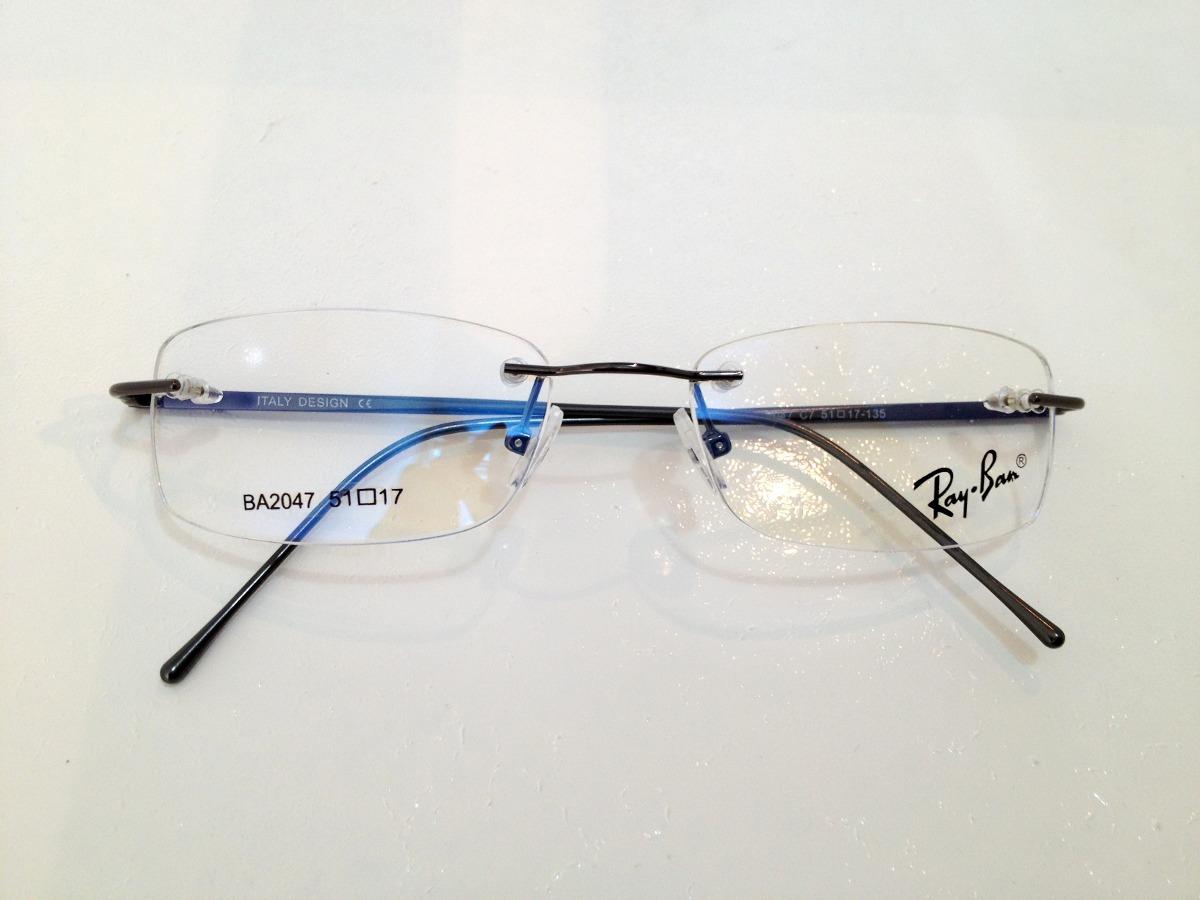armação de óculos rayban sem aro hastes de metal grafite. Carregando zoom. a573a17ef7