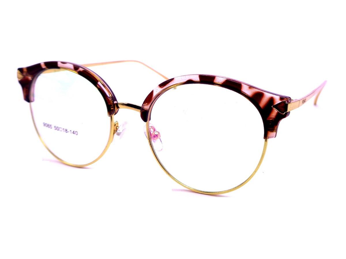 armação de óculos redonda feminina lentes transparente f9065. Carregando  zoom. d9a675ca93