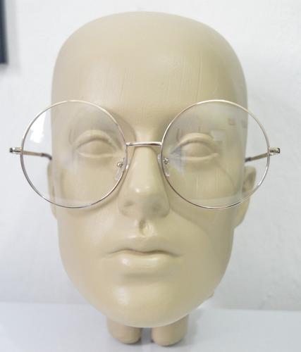 armação de óculos redondo oversized - janis joplin - vintage