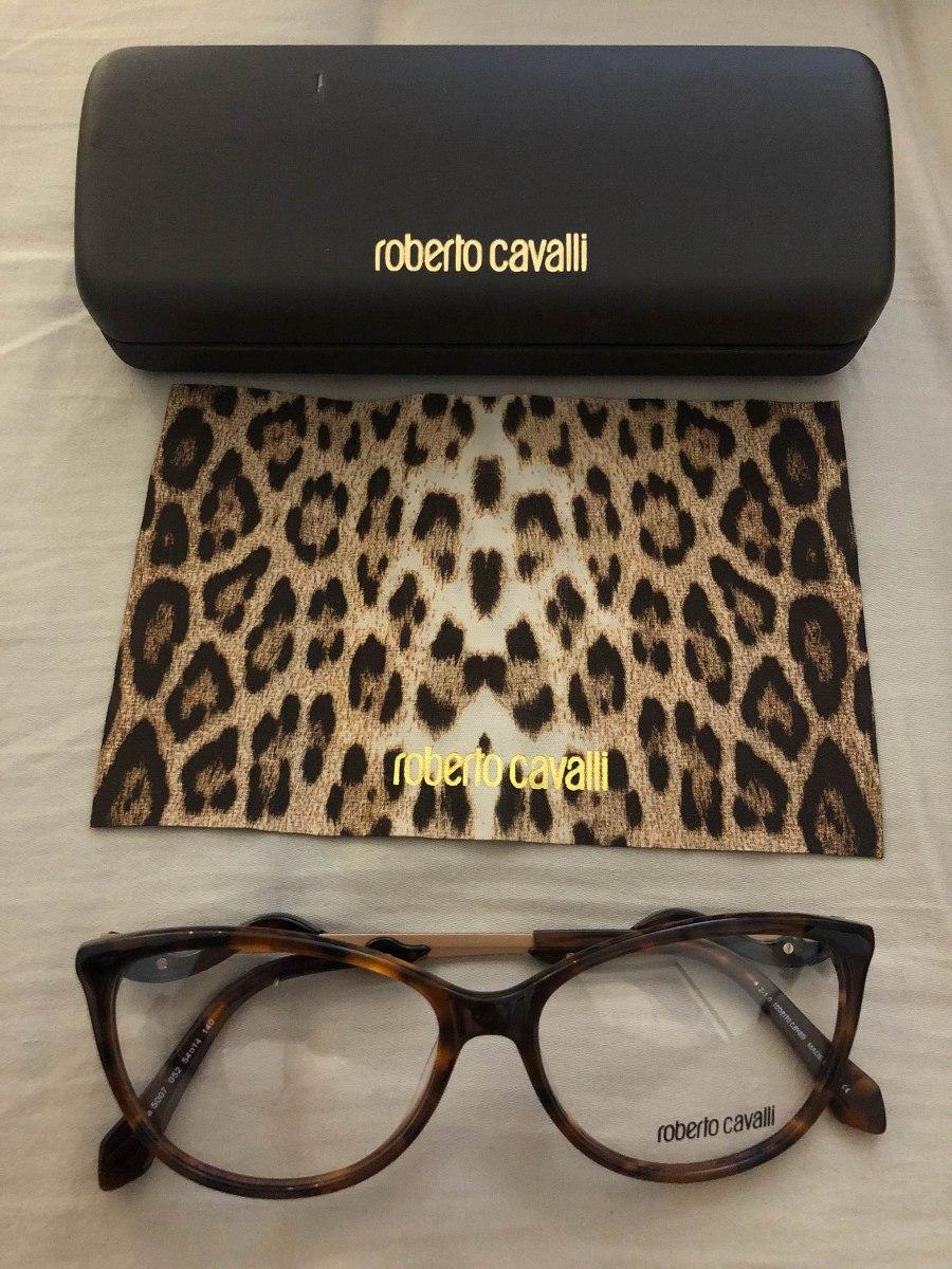 Armação De Óculos Roberto Cavalli Original - R  600,00 em Mercado Livre 802527e3b6