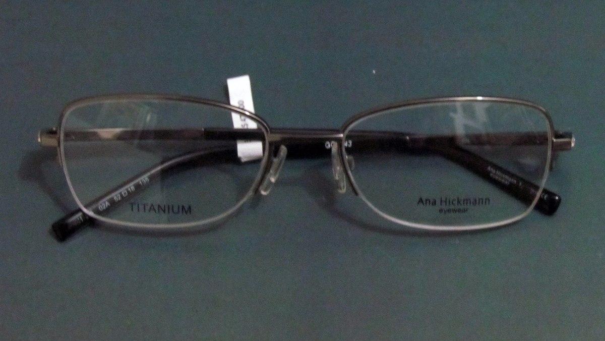 Armação De Oculos Titanium Ana Hickmann Original Grau - R  68,00 em ... 439cd26296