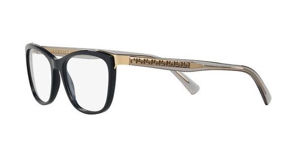 c23ccd251511f Armação De Óculos Versace Feminina Mod.3255 5230 Azul - R 519,00 em ...