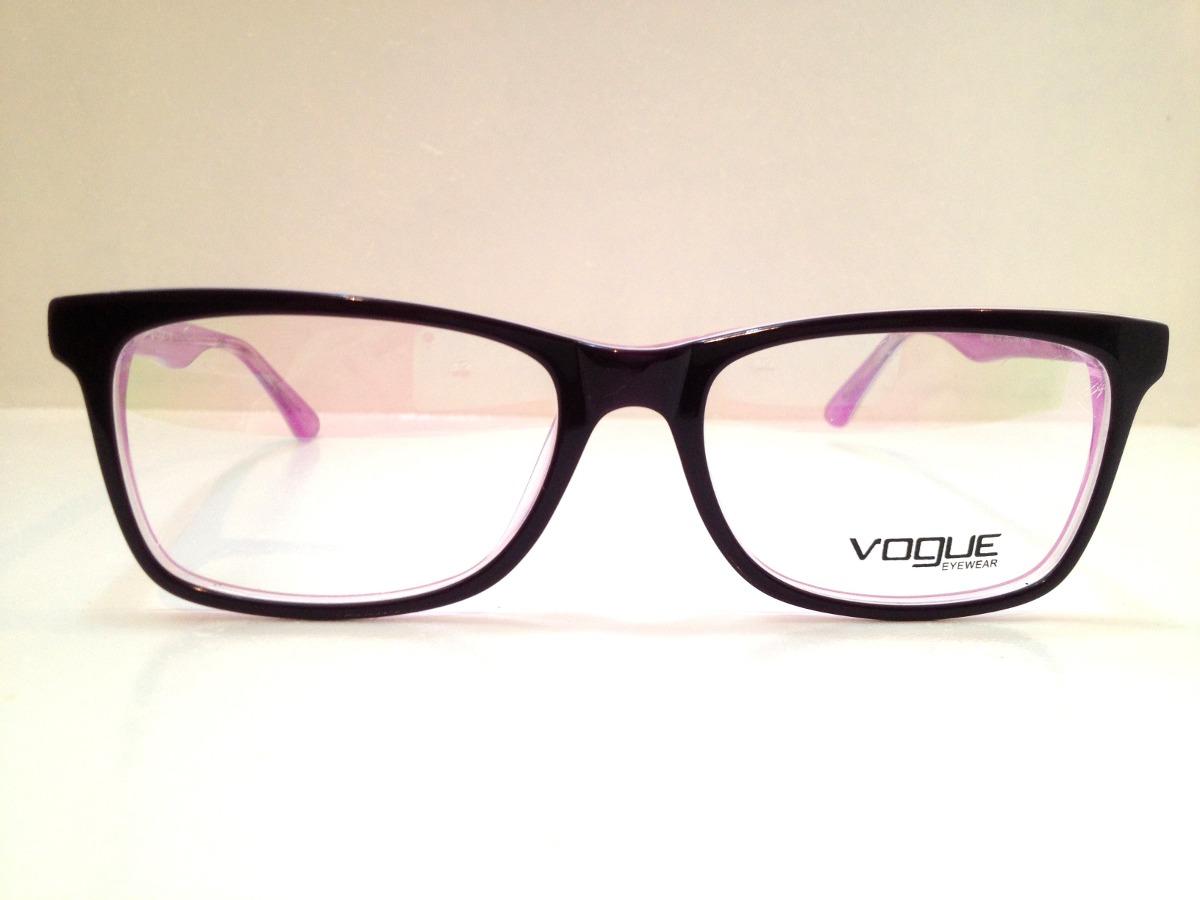 040fe6bd57f3d armação de óculos vogue acetato preto c  roxo. Carregando zoom.