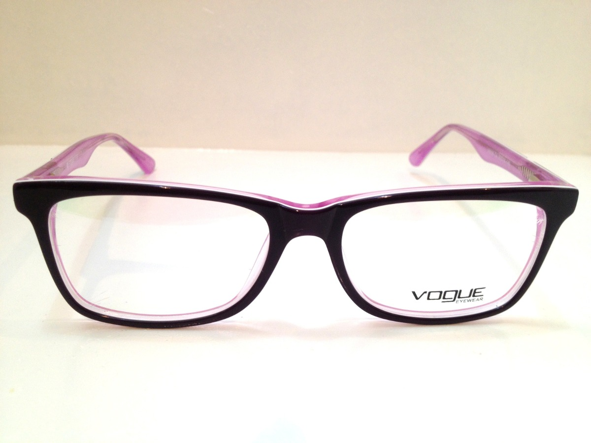 Armação De Óculos Vogue Acetato Preto C  Roxo - R  189,00 em Mercado ... 19e0060a43