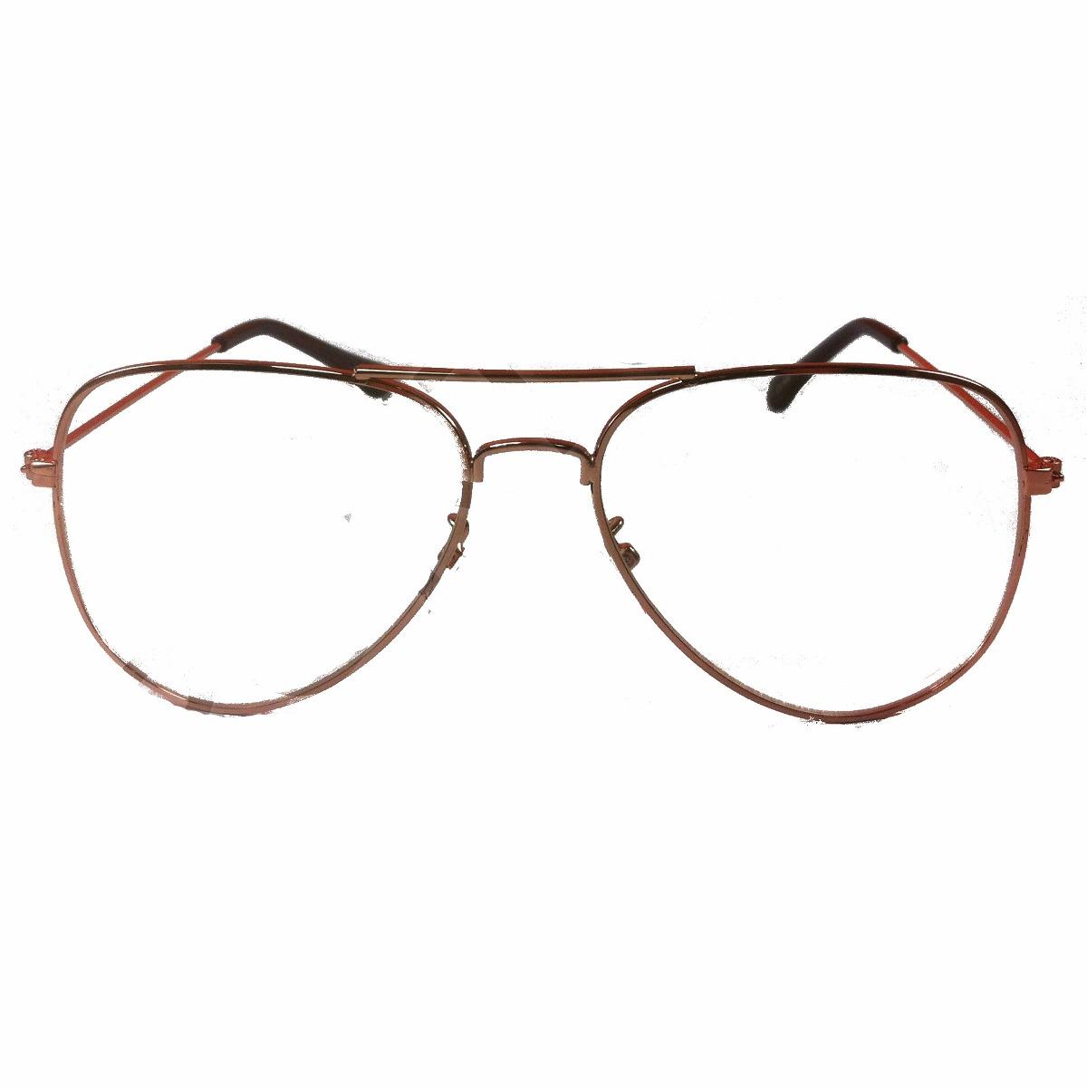 6f4bb5df3d4d7 armação dourada aviador caçador tam  m óculos lentes de grau. Carregando  zoom.