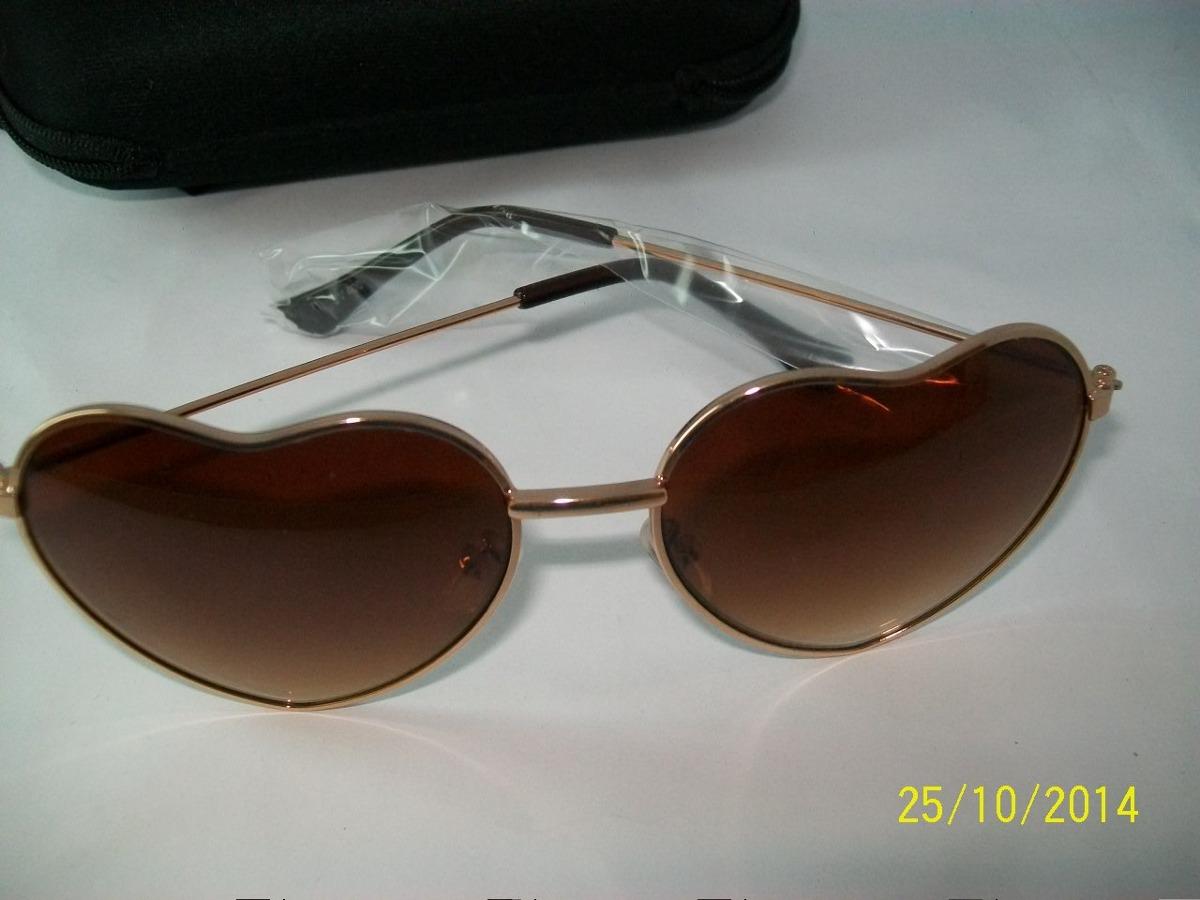 armação dourada feminino óculos de sol lentes coração form. Carregando zoom. c6ddb52fe9
