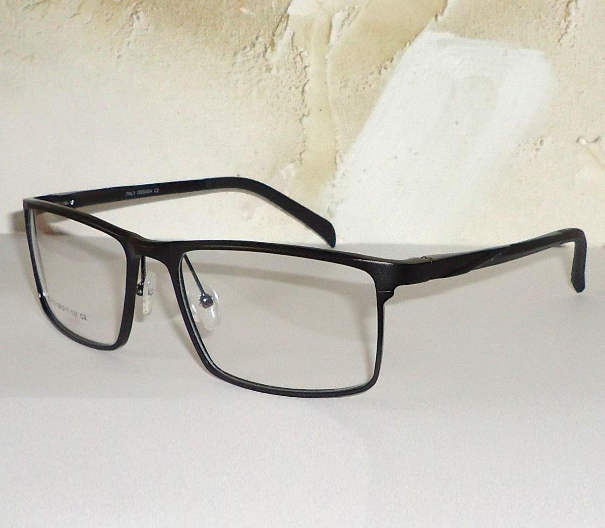 armação em alumínio para óculos de grau executivo geek nerd. Carregando  zoom. 512655173c