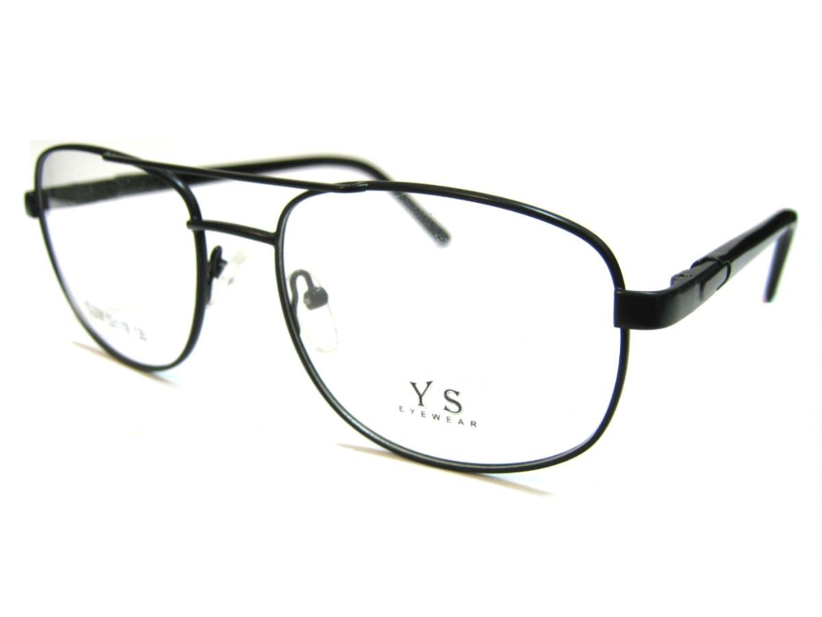 armação em metal estilo aviador - preto óculos p grau ou sol. Carregando  zoom. b3f390c8bc