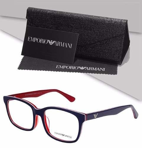 213f91525 Armação Emporio Armani Oculos Grau Acetato Importado - R$ 129,90 em ...