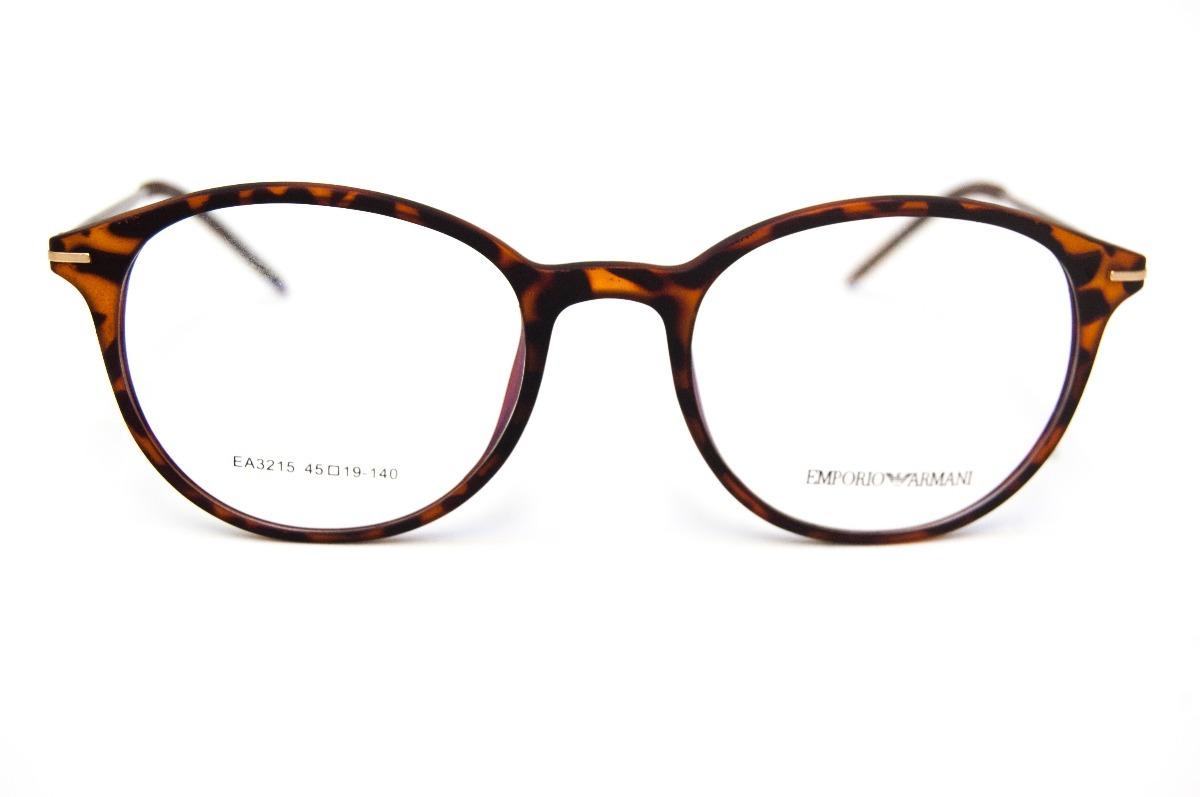 Armação Emporio Armani Oculos P Grau Tr90 Mod Ea3215 - R  189,99 em ... ee276e6d7c