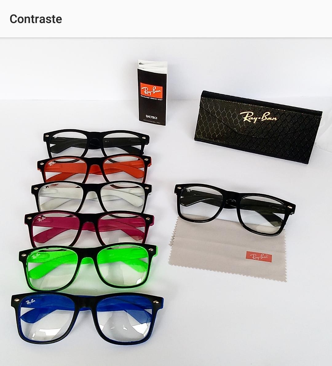 Armação Estilo Ray Ban Óculos De Grau Quadrado Unisexx - R  39,89 em ... cadeaa908e