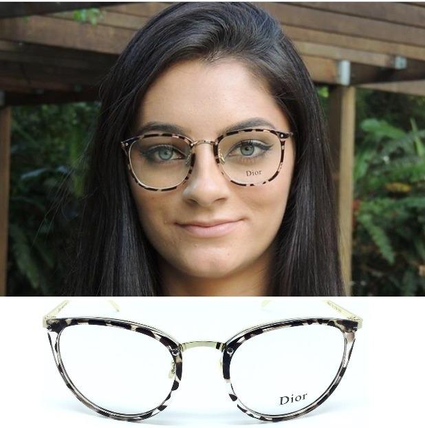 6c2e84db5 Armação Feminina Dia A Dia Óculos Em Acetato Gato Foto Barat - R$ 47 ...