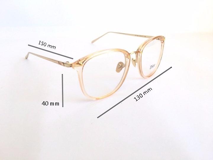 9bdb140b7af8a Armação Feminina Dior Dourado Para Óculos De Grau Em Acetato - R  79 ...