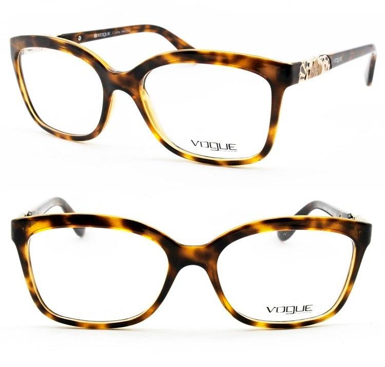 3ee08fab4 Armação Feminina Óculos Acetato Grau Vogue Original - Vo2981 - R ...
