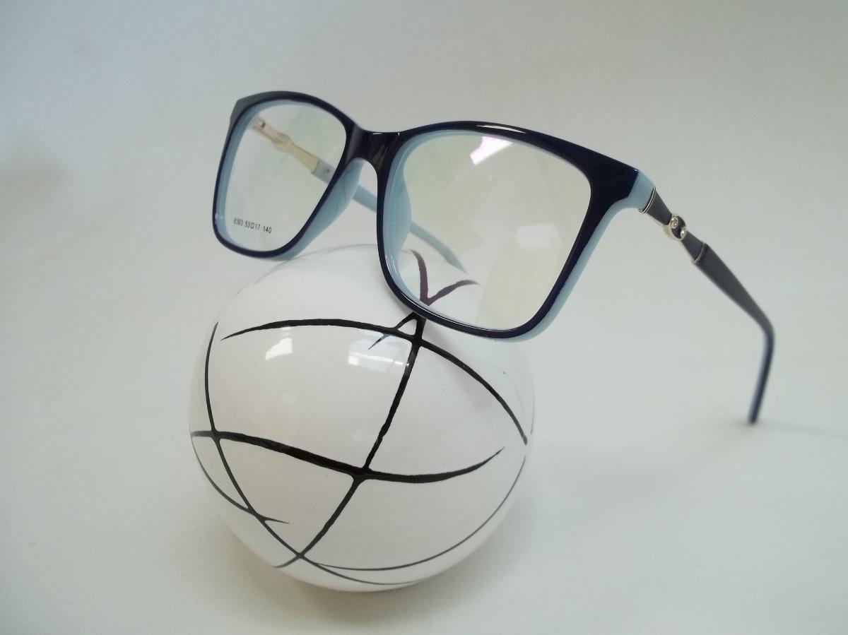 dc126d3ad armação feminina óculos p grau acetato cor azul escuro. Carregando zoom.