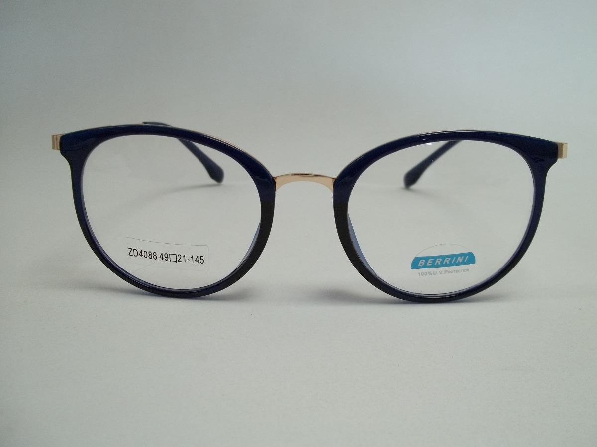 e94939cdd26ac armação feminina óculos p  grau acetato redonda grande azul. Carregando zoom .