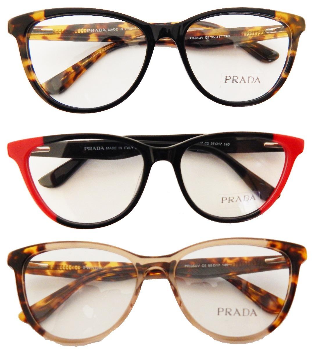 49b2358c757b5 ... Armação Feminina P Óculos Grau Prada Pr05uv Gatinho - R 121,00 em .