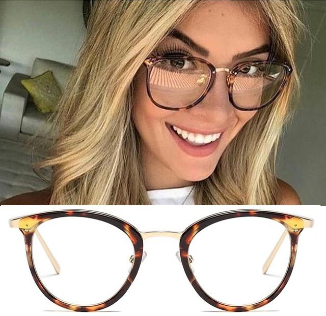 a2854ffe8 Armação Feminina Para Grau Óculos Resistente Geek Promoção - R$ 47 ...