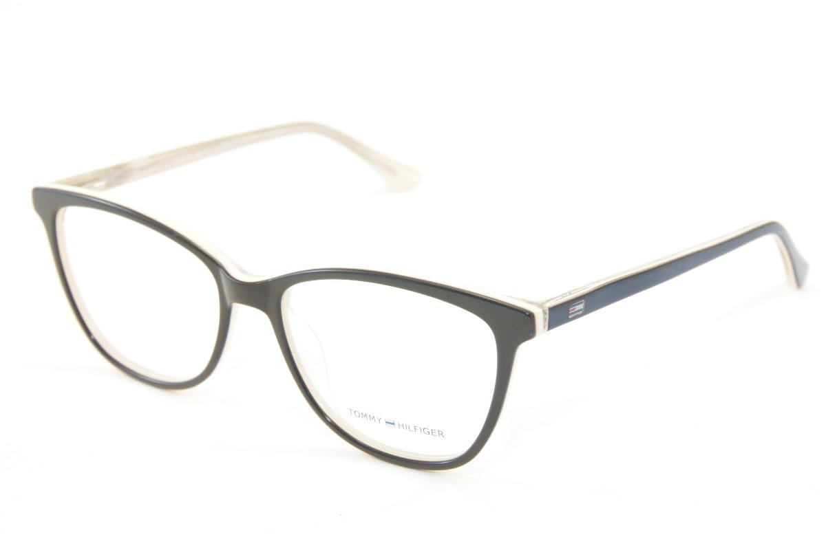88ecd6d69b7c6 armação feminina para óculos de grau tommy hilfiger 1352. Carregando zoom.