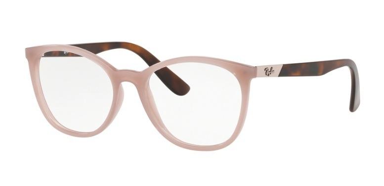 5a9fe879c Armação Feminina Ray-ban Oculos De Grau Nude Rb7161l 5893 - R$ 349 ...