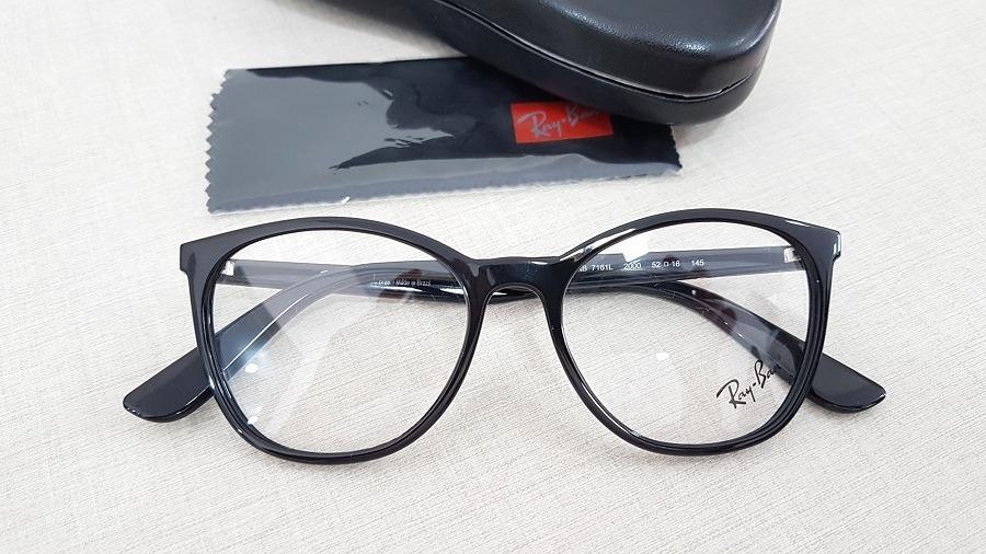 9886b3fee armação feminina ray-ban oculos de grau preto rb7161l 2000. Carregando zoom.